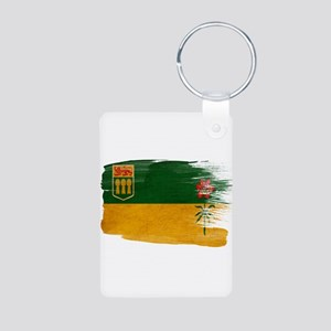 Saskatchewan Flag Aluminum Photo Keychain